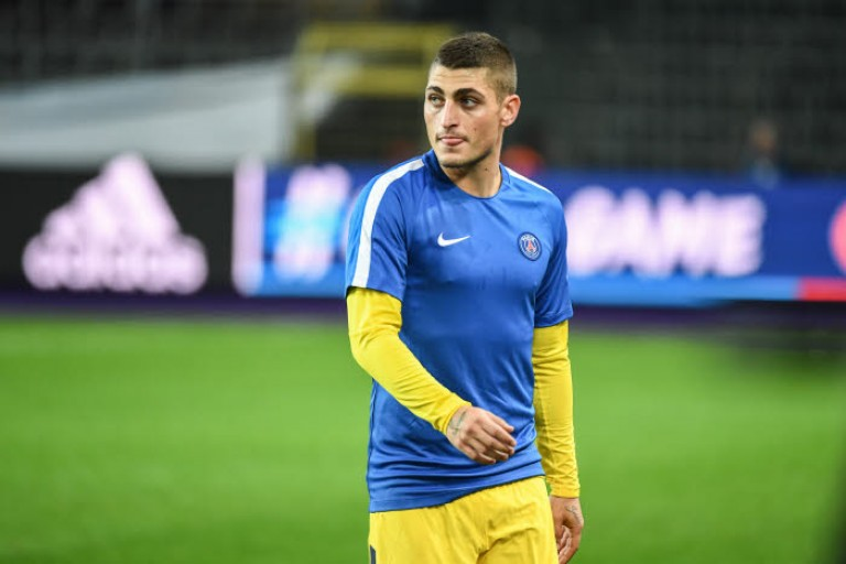 Marco Verratti a reçu un carton rouge face au Real Madrid.