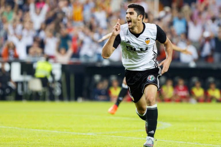 Gonçalo Guedes, attaquant du PSG, prêté à Valence cette saison.