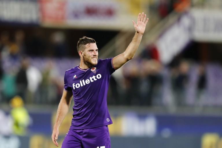 Jordan Veretout, milieu de terrain de la Fiorentina prêté à la Roma.