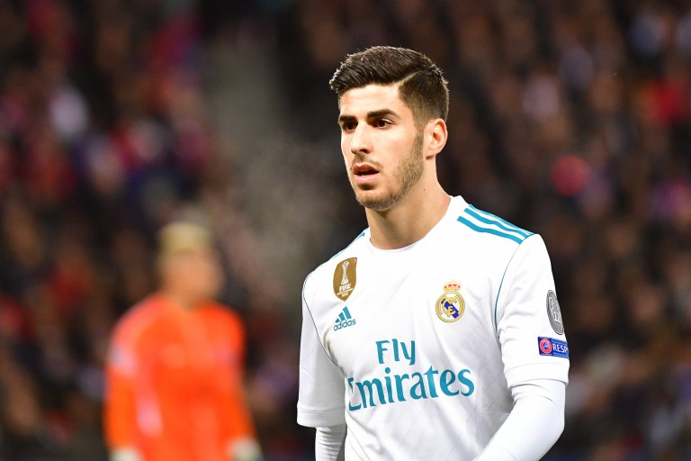Marco Asensio lors d'une match avec le Real Madrid