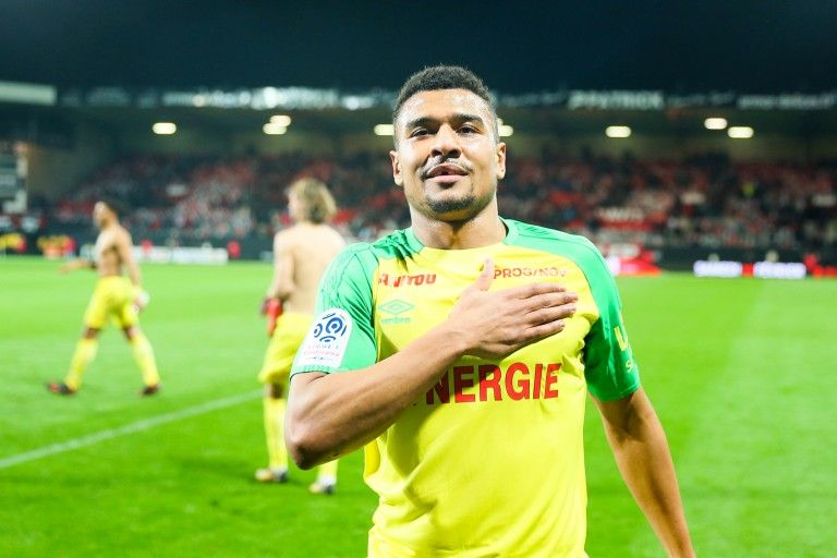 Santy Ngom, attaquant du FC Nantes.