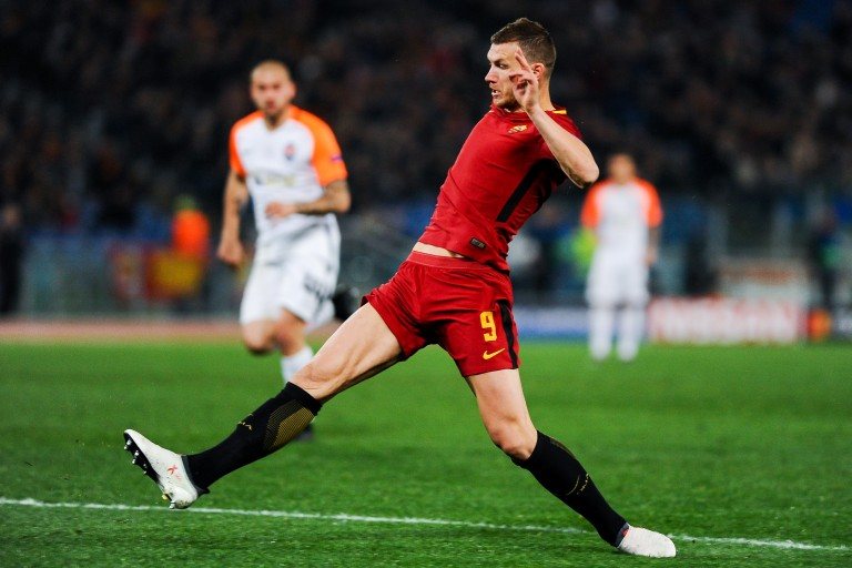 Edin Dzeko, attaquant à l'AS Rome.