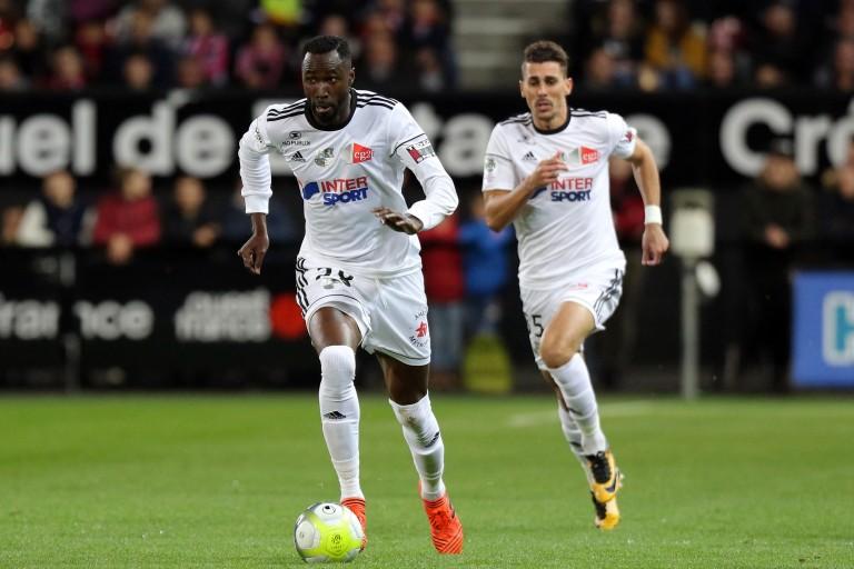 Lacina Traoré, attaquant de l'AS Monaco, prêté cette saison à Amiens SC.