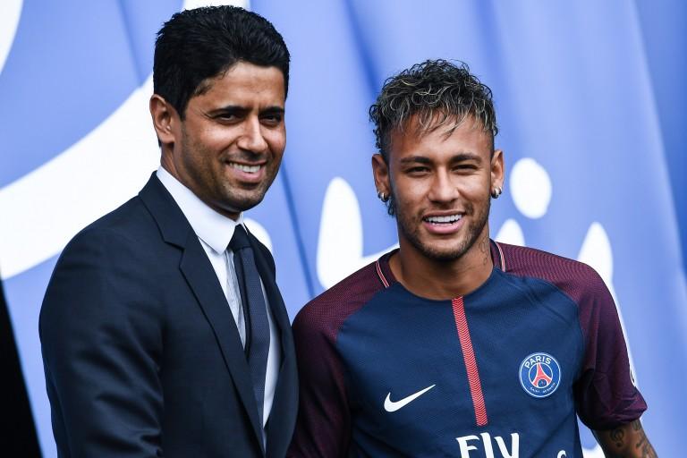 Nasser Al-Khelaïfi  - Neymar