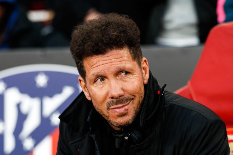 Diego Simeone, entraîneur de l'Atlético Madrid.