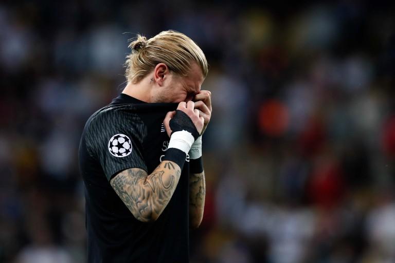 Loris Karius en larmes après le match de la finale de la Ligue des Champions