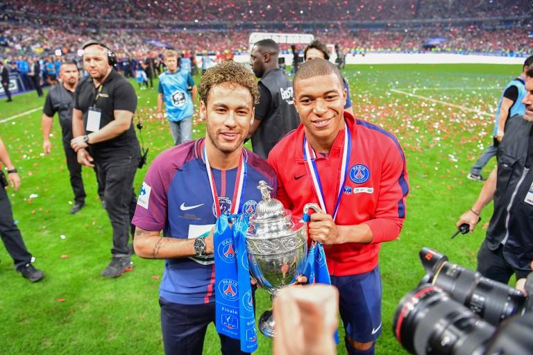 Neymar et Kylian Mbappé, attaquants du PSG.