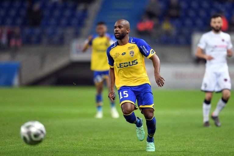 Aldo Kalulu, attaquant de l'OL prêté au FC Sochaux la saison dernière.
