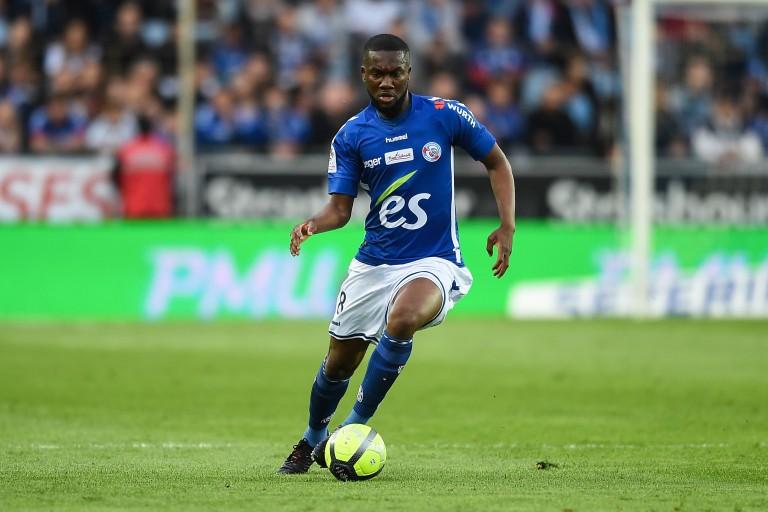 Jean-Eudes Aholou, milieu de terrain du Rc Strasbourg a signé à l'AS Monaco.