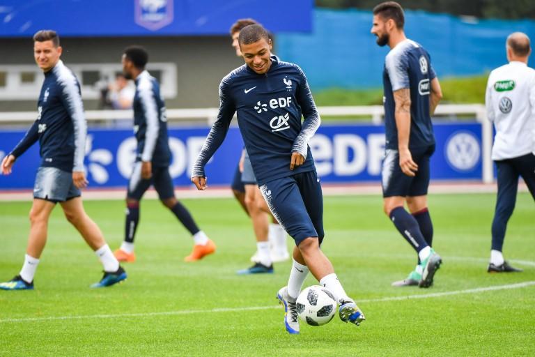 Kylian Mbappé, attaquant du PSG et de l'équipe de France.