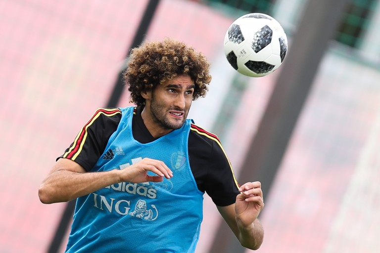 Marouane Fellaini, milieu de terrain belge de Manchester United.