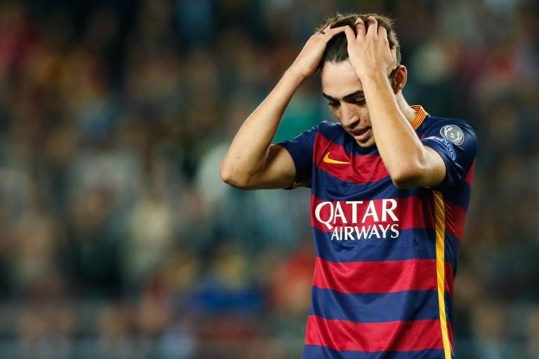 Munir El Haddadi, attaquant espagnol du FC Barcelone.