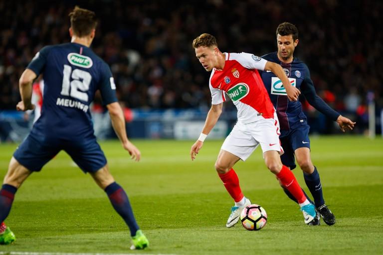 Irvin Cardona, attaquant de l'AS Monaco visé par le Nîmes Olympique.
