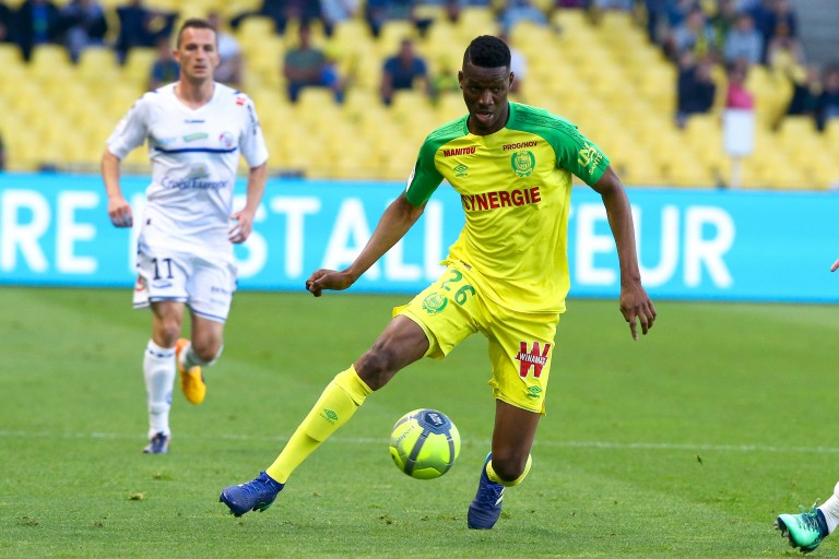 Kalifa Coulibaly, attaquant du FC Nantes.
