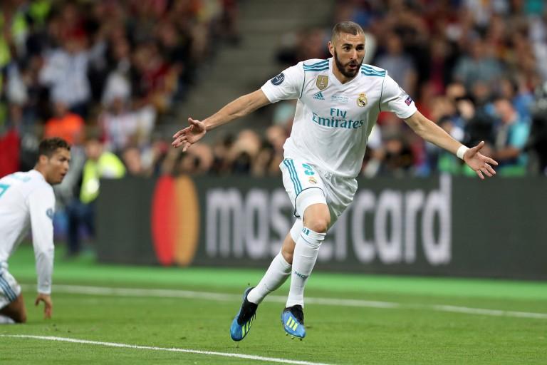 l'attaquant du Real Madrid, Karim Benzema.