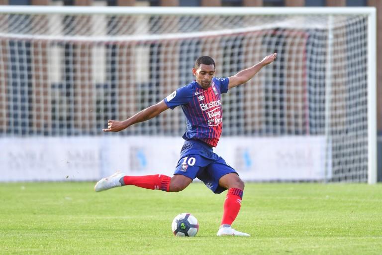 Ronny Rodelin, attaquant du SM Caen visé par l'EA Guingamp.