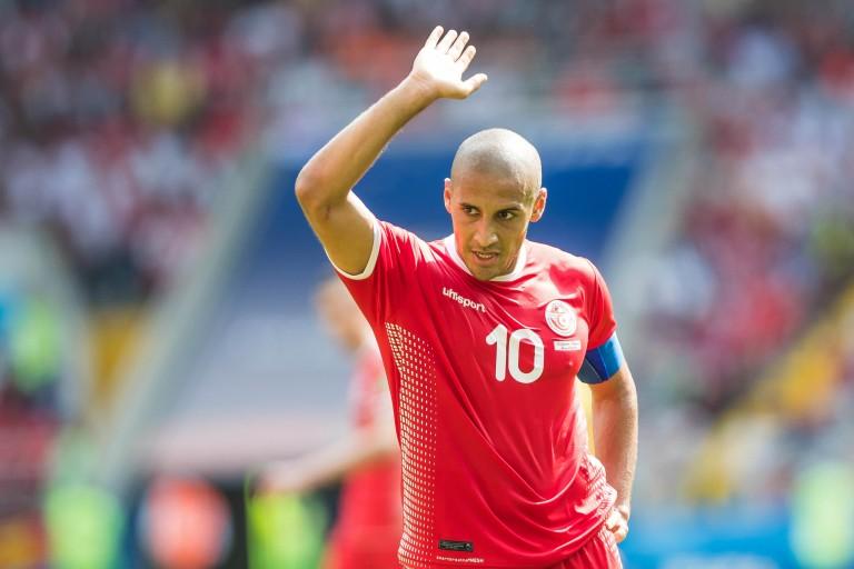 Wahbi Khazri, capitaine de la sélection de Tunisie.