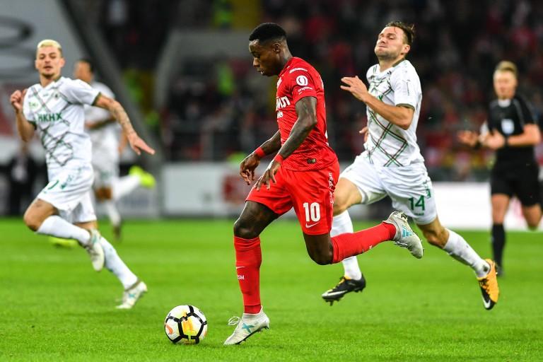 Quincy Promes ailier du Spartak Moscou sur les tablette de Monaco.