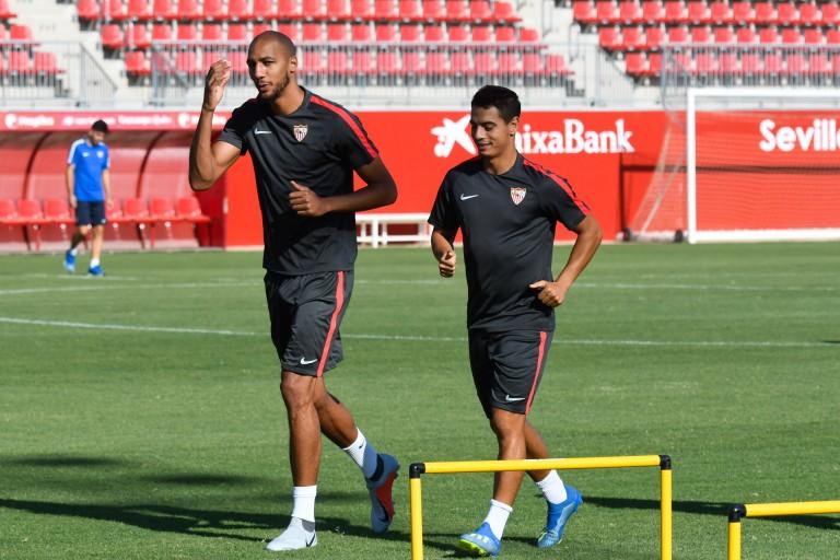 Steven Nzonzi, milieu de terrain de l'AS Rome prêté à Galatasaray.