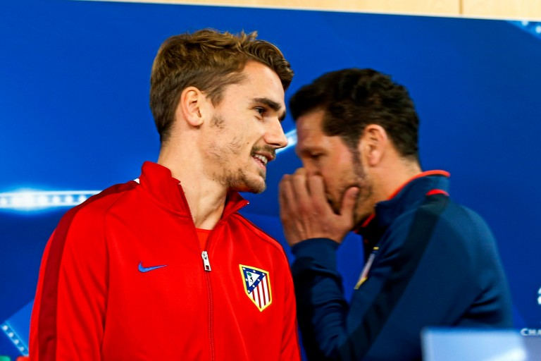 Antoine Griezmann et Diego Simeone à l'Atletico Madrid.
