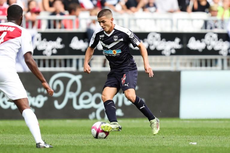 Sergi Palencia, arrière droit prêté par le FC Barcelone aux Girondins de Bordeaux.