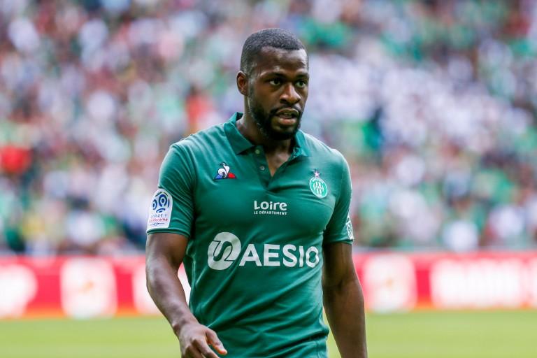 Yannis Salibur, milieu offensif de l'EA Guingamp prêté à l'ASSE.