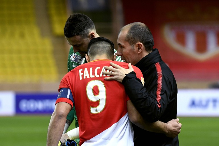 Leonardo Jardim et Radamel Falcao, capitaine de l'AS Monaco.