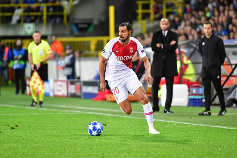 Nacer Chadli sous le maillot de l'AS Monaco