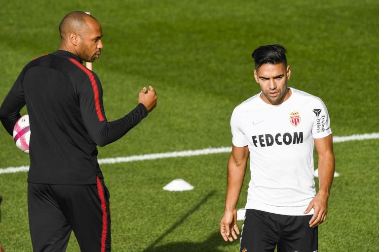 Radamel Falcao et Thierry Henry à l'AS Monaco.