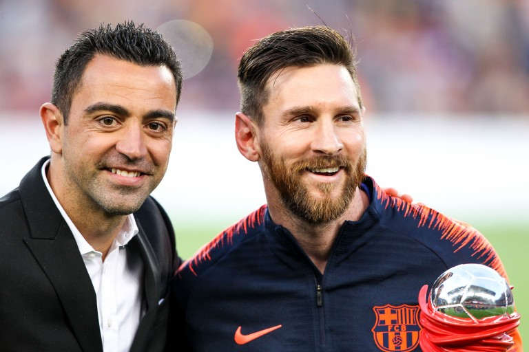 Xavi Hernandez et Lionel Messi au Barça.