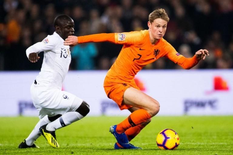 Frenkie De Jong, milieu de terrain de l'Ajax Amsterdam et des Pays-Bas.