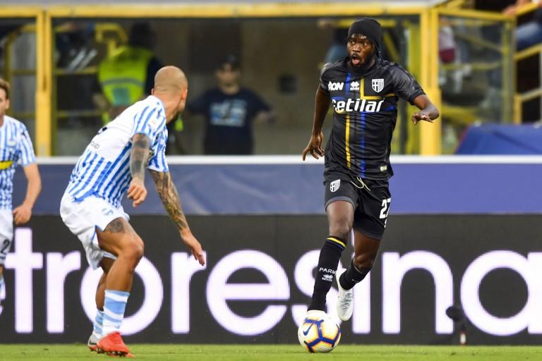 Gervinho, attaquant ivoirien de Parme Calcio.