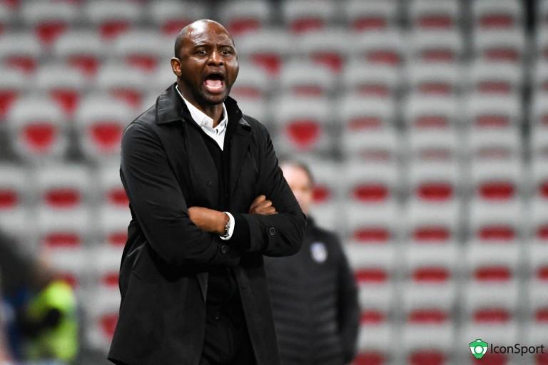 Patrick Vieira, coach de l' OGC Nice privé de supporters contre l' ASSE.