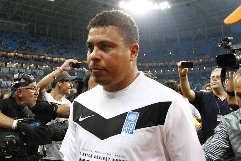 Ronaldo Nazário, ancien gloire du football brésilien.