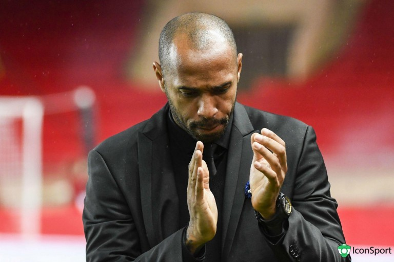 Thierry Henry, ex-entraineur de l'AS Monaco.