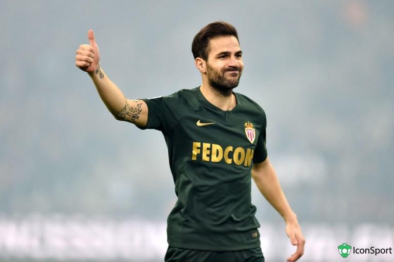Cesc Fabregas forfait lors du déplacement de Monaco à Lille.