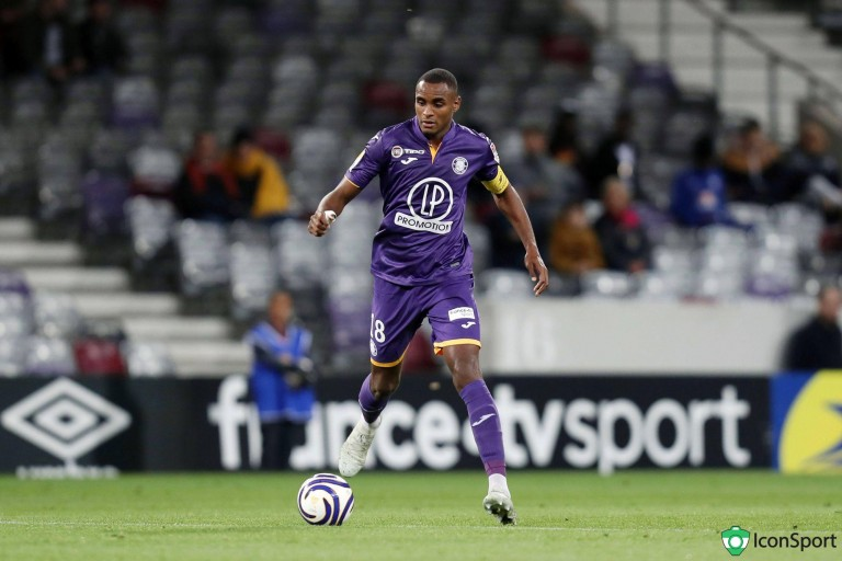 Steven Fortes, défenseur central prêté par le Toulouse FC au RC Lens.