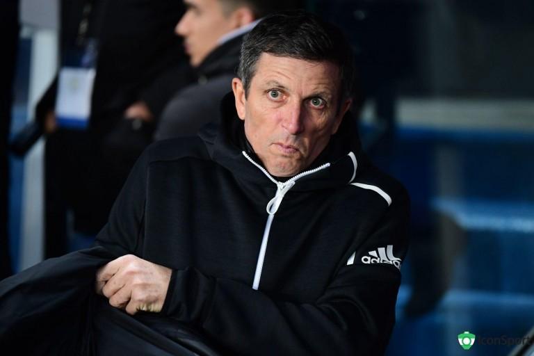 Thierry Laurey, ancien joueur de l' OM et actuel entraîneur du RC Strasbourg
