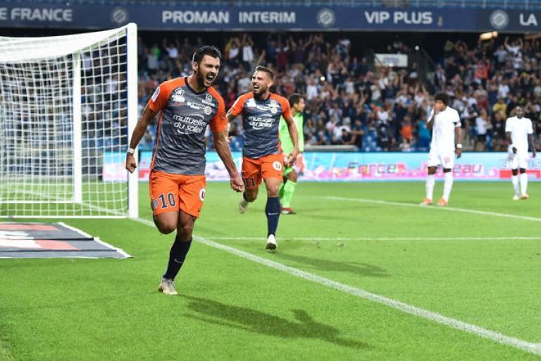 Andy delort de retour à l'entraîneur avec Montpellier.