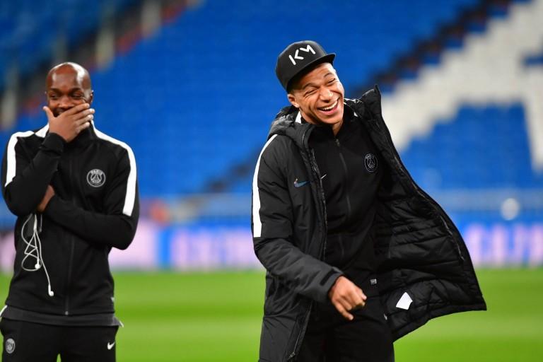 Lassana Diarra et Kylian Mbappé sous les couleurs du PSG.