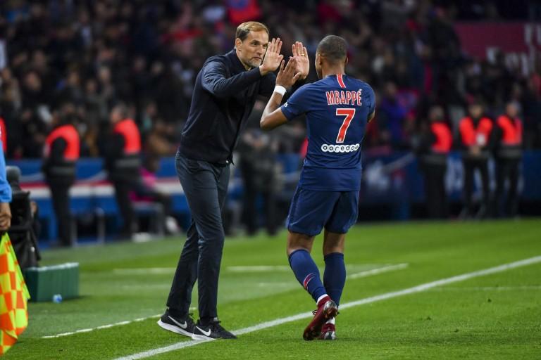 Thomas Tuchel et Kylian Mbappé au PSG.