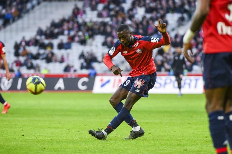 Nicolas Pépé, attaquant à Lille OSC.