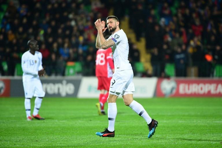 Olivier Giroud a marqué lors la nette victoire de l'équipe de France contre l'Islande (4-0).