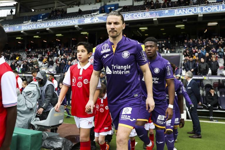 Yannick Cahuzac, milieu de terrain de Toulouse FC.