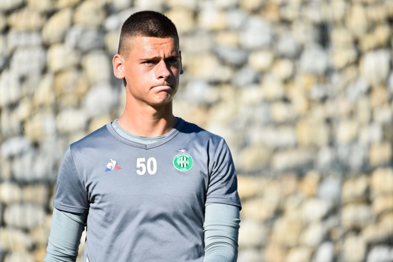Stefan Bajic, jeune gardien de but de l'ASSE