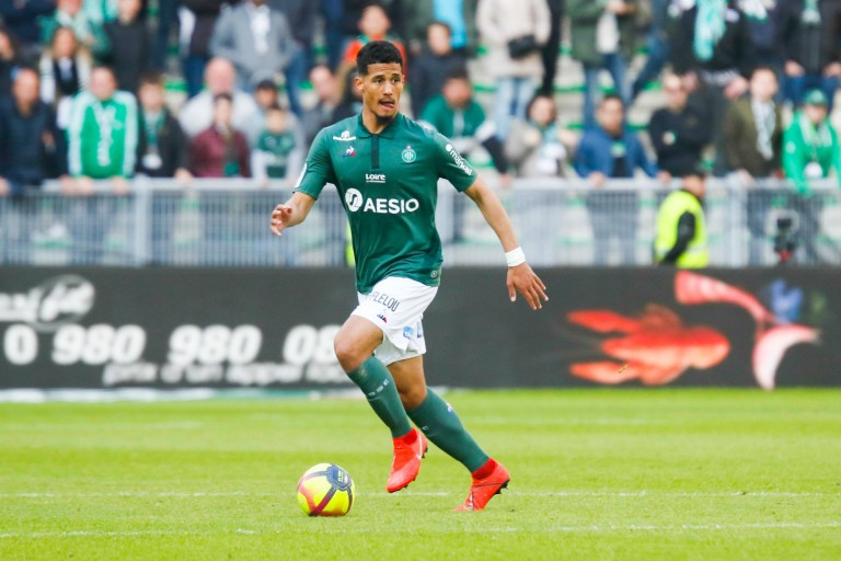 William Saliba, défenseur de l' ASSE visé par Manchester United et Arsenal.