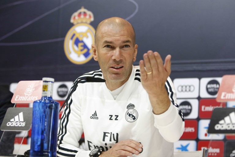 Zinedine Zidane en conférence de presse.
