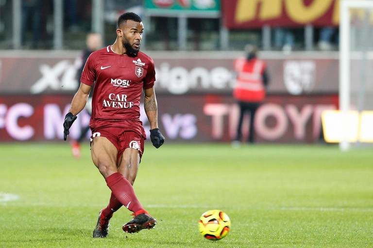 Habib Maïga, milieu de terrain de l' ASSE prêté au FC Metz.