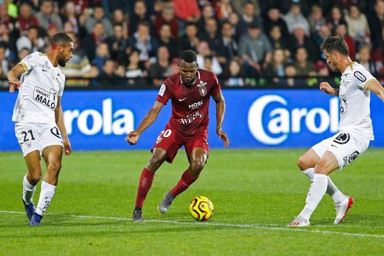 Habib Diallo, attaquant du FC Metz, courtisé par le FC Nantes.