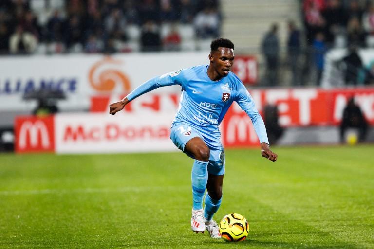 Opa Nguette, attaquant en fin de contrat au FC Metz et courtisé par le FC Nantes.